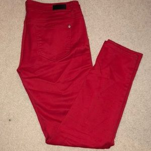 Red Celebrity Pink Jeans High Rise Skinny
